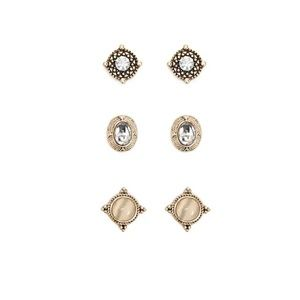 BRAND NEW Faux Gem Stud Earrings